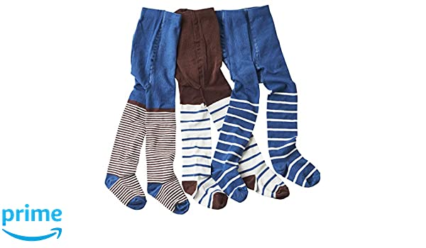 wellyou Baby and Kids Tights Set for Boys Brown//White and Blue Size 86-146