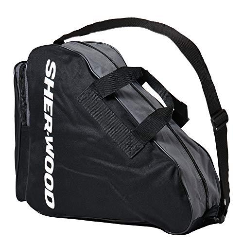 Sherwood Schlittschuhtasche Skate Bag - Bolsa de Deporte, Color Negro, Talla 36 x 16 x 36 cm