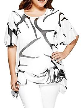 FAMILIZO Camisetas Mujer Manga Corta Camisetas Mujer Verano Blusa Mujer Gasa Tops Mujer Verano Camisetas Sin Hombros...