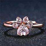 #4: Alcoa Prime Bear Paw Cat Claw Women Opening Adjustable Zircon Ring Wedding Jewelry Gift