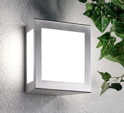 Edelstahl Außenleuchte Wandleuchte Wandlampe Aqua Quadro 25