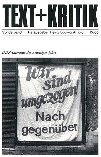 DDR-Literatur der neunziger Jahre (TEXT+KRITIK Sonderband)