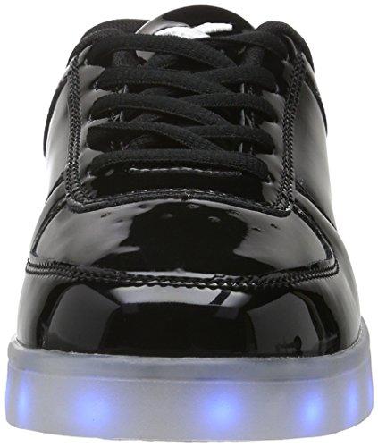 wize & ope Unisex-Erwachsene LED-Pop Low-Top Schwarz (Black 2)