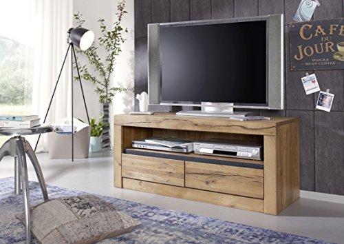 TV-Board Wildeiche 115x42x49 natur geölt MONTREUX #103