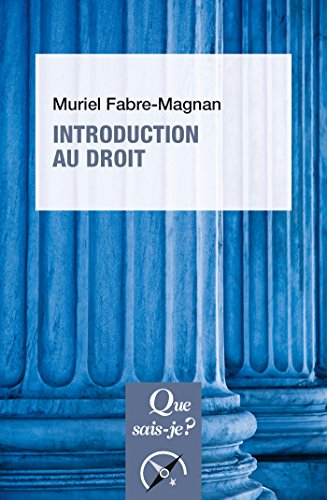 Introduction au droit: « Que sais-je ? » n° 1808