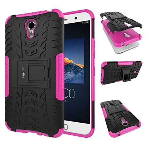 Heartly Lenovo Zuk Z1 Back Cover Kick Stand Rugged Shockproof Tough Hybrid Armor Dual Layer Bumper Case - Cute Pink