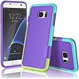 Coque Samsung galaxy S7 edge , XY-shell(TM) 3 couleur[absorbant les chocs] [ Anti-rayures Back]Coque Silicone Housse Etui Ultra Slim Fit pour Galaxy S7 edge sorti en 2016.[Violet]