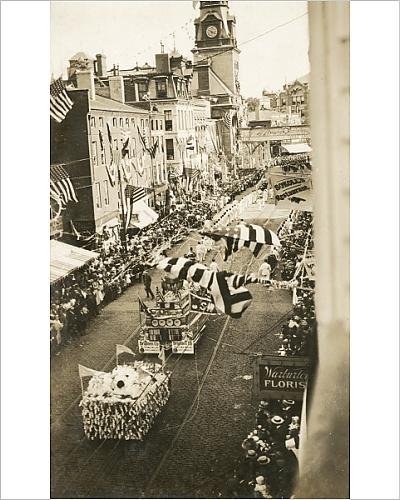 photographic-print-of-a-parade-in-fall-river-massachusetts-sherwin-williams-float