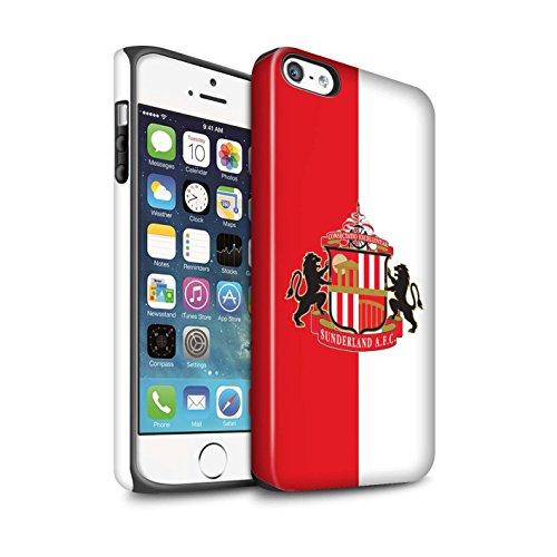 Offiziell Sunderland AFC Hülle / Matte Harten Stoßfest Case für Apple iPhone SE / Pack 6pcs Muster / SAFC Fußball Crest Kollektion Rot/Weiß