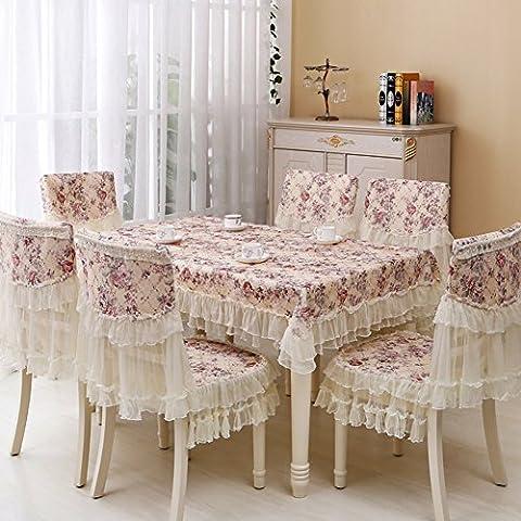 Tessuto pizzo coprisedili/ sedile pastorale cuscino posteriore set di copertura-I