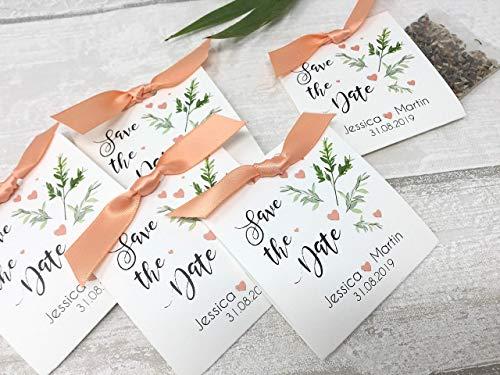 zur Hochzeit Personalisiert inkl. Blumensamen ()