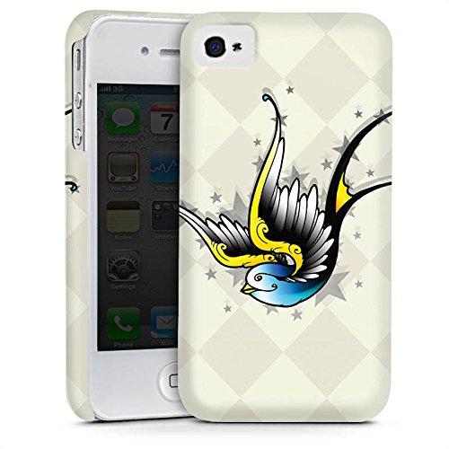 Apple iPhone 5 Housse Étui Silicone Coque Protection Oiseau Simulation Art Cas Premium mat