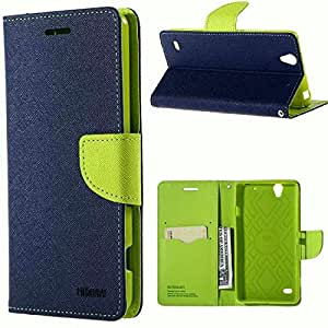 Samsung A8 covers Flip Cover For Samsung Galaxy A8 Blue Color | Properly Stiched With Pockets For ATM cards | Samsung Galaxy A8 Flip Covers Blue