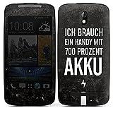 HTC Desire 500 Case Skin Sticker aus Vinyl-Folie Aufkleber Akku Handy Sprüche