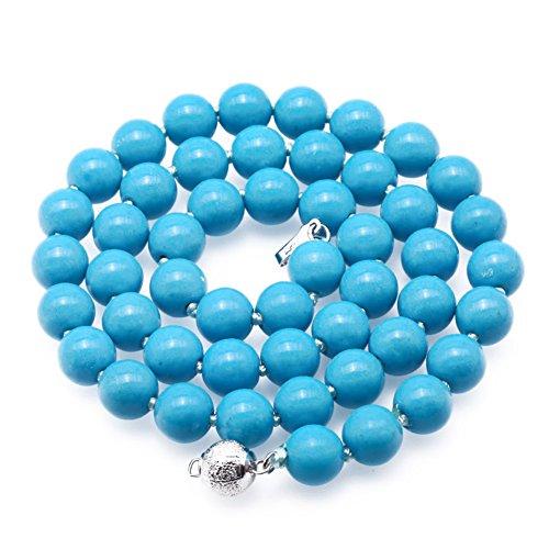 JYX Pearl jyx Geknotet 8,0–8,5mm Rund Lose türkis Edelstein Perlen Halskette 48,3cm Handgefertigt Schmuck