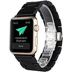 For Apple Watch Strap Band, Fulltime(TM) Natural Wood Wrist Watch Band Strap Belt Watch For Apple Watch Series 2 / 1 42mm