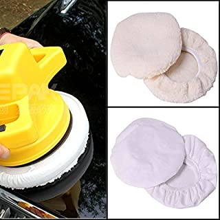 UCTOP STORE 4 Pcs Polishing Bonnet Buffer Polishing Pad For 9inch & 10inch Car Polisher