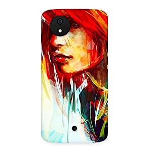 Gorgeous Art Girl Beauty Multicolor Back Case Cover for Micromax Canvas A1