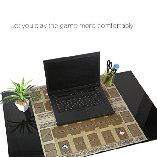 HKFV 60x60cm Gummi Spielmatte Ägypten Wand Stil Wettbewerb Pad für Yu-Gi-oh Karte Spiel König Zubehör Card Game Pad Play Mat (Grau)