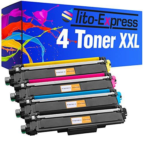 Tito-Express PlatinumSerie 4 Toner XXL für Brother TN-243 TN-247 DCP-L3510CDW DCP-L3550CDW HL-L3210CW HL-L3230CDW HL-L3270CDW MFC-L3710CW MFC-L3730CDN MFC-L3750CDW MFC-L3770CDW inklusive Chip!