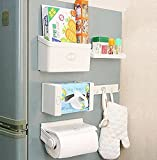 #10: 5 in 1 Fridge magnet Storage Organizer Set Rack Shelf With Free Shipping