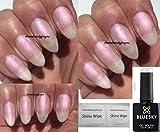 Bluesky 80528 Gel-Nagellack, Soak-Off-Lack, Aushärten unter LED-/UV-Licht, Farbe: Moonlight und Roses Pearl (Hell-Pink), mit 2 x Glanztüchern von LuvliNail, 10 ml