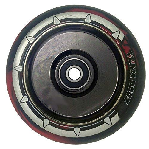 Team Dogz 110mm Hollow Core Stunt Scooter Wheel - Nebula Rainbow/Black Red