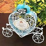 Vagón Candy Caja, Bonito Hueco hacia Fuera Carruaje de Cenicienta Dulces Chocolate Cajas de Regalo para Cumpleaños Boda Fiesta Decoración (Morado) - Azul, free size