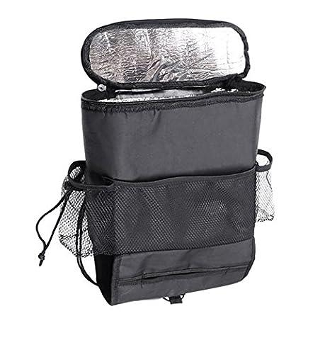 Almatess Car Seat Organizer,Auto Seat Back Organizer,Multi- Pocket Travel Storage Bag Insulted Car Seat Back Drinks Holder Cooler/Storage Bag Cool Wrap Bottel Beverage Bag with Mesh