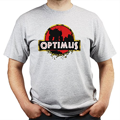 Jurassic Optimus Park Prime T-shirt Grau