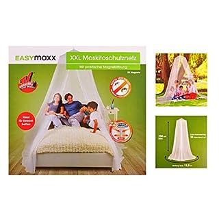 Moskitonetz von EASYmaxx- ideal für Doppelbetten- extra feinmaschig- praktische Magnetöffnung