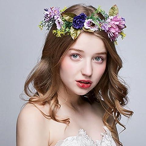 SINCERE@ Magic cypress wreath headdress head flower bridal headdress Korean jewelry beach resort