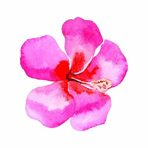 Watercolor bemalt Hibiscus Hawaiian Flower-Full Color Vinyl Aufkleber Aufkleber für sofortige Topf instapot Schnellkochtopf