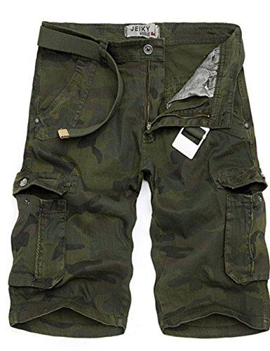 Menscwhear Pocket Hobo Release Pantaloni da Jogging da Uomo sportivi Casual Sarouel danza Shorts in esecuzione with belts (44,verde)