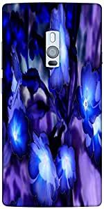 Snoogg glowing flowers inspired 2634 Hard Back Case Cover Shield For Oneplus Two