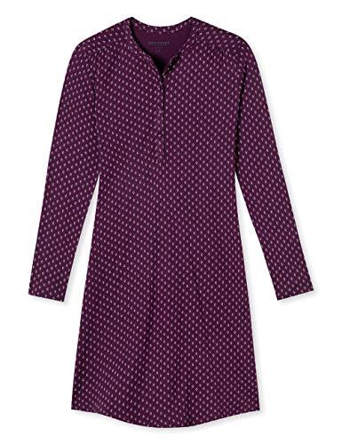 Schiesser Damen Nachthemd 1/1 Arm, 110cm, Rot (Bordeaux 502), 46