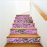 Impermeabile Rosa Piccoli Adesivi Scala Floreale Moda Creativa Passi Decorativi Autoadesivi Home Decor Adesivi