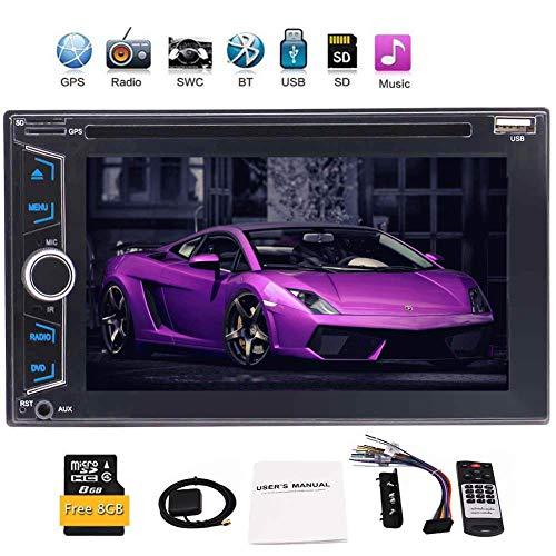 EINCAR Double 2 DIN In Dash Wince O Car Headunit Electronics Auto-DVD-CD-Player 1080P Video Bluetooth-GPS-Navigation Digital-Screen-Stereo-Radio ohne PC GPS-Karte Karte + Fernbedienung