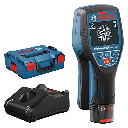 Bosch Professional Ortungsgerät D-tect 120 (max. Ortungstiefe für Kunststoffrohre/Holzunterkonstruktion/spannungsführende Leitungen/Eisenmetalle/ Nichteisenmetalle: 60/38/60/120/120 mm, in L-Boxx)