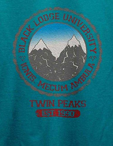 Black Lodge University 2 T-Shirt Türkis