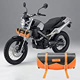 Motocicleta universal de equipaje de piel bolsas de sillín Bolsa de herramientas Almacenamiento izquierda derecho rollo Custom Touring Juego de triángulo lado equitación viajar Rider para moto caballero