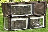 nanook Flauschi - Schutzhülle für Kaninchenstall Hasenstall Flauschi, 130 x 49 x 83 cm - Farbe: braun, schwarz