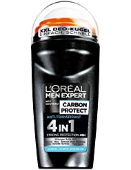 L'Oréal Men Expert Deodorant Carbon Protect 4in1 Roll-On, 48h Schutz, 6er Pack (6 x 50 ml)