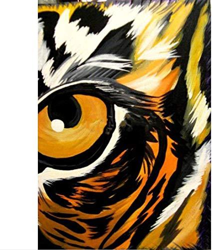 XADITON Malen nach Zahlen Kits für Erwachsene und Kinder, Tier Tigerauge, DIY Ölgemälde Digitale Leinwand Wandkunst Dekoration-16 * 20 Zoll Rahmenlos
