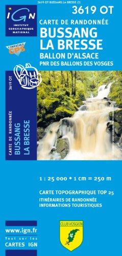 Top25 3619OT ~ Bussang, la Bresse, Ballon d'Alsace carte de randonnée avec une règle graduée gratuite