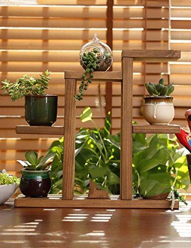 Lx, supporto per vasi in legno massiccio, scaffale da tavolo, con più ripiani, tipo di piano anticorrosione, fioriera da balcone, mensola semplice e creativa per soggiorno, per interni b
