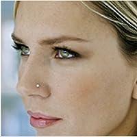 ✿ Mini Kristall ✿ klitzekleiner Nasenstecker Piercing aus Edelstahl