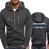 WZ NFL Football Kleidung - New England Patriots Micro Velvet Warm Langarm-Zipper-Shirt, Hoodie Für Männer Und Frauen Herbst Und Winter