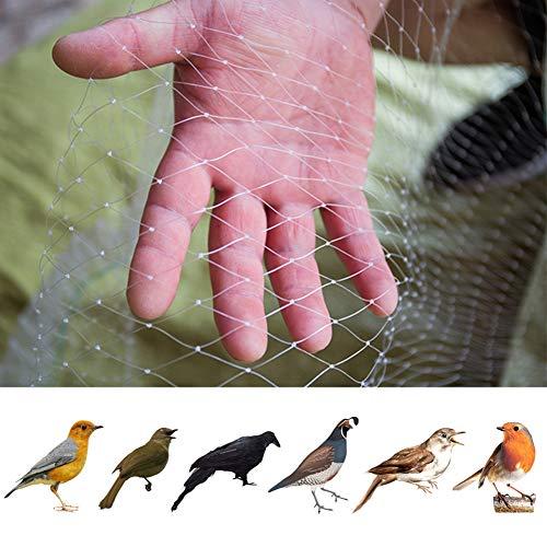 Weiße Gewebtes Garten-Vogelnetz, Garten-Vogelschutznetz, für Pflanzenschutz, Netz, Erbsen- und Obstnetz, Nylon, 6.6ft X 33ft