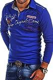 MT Styles Langarm Poloshirt AMBITION T-Shirt R-0682 [Blau, XXL]